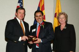 Andy receiving the ASU Young Alumni Achievement Award