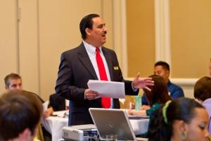 Andy Ortiz teaching on leadership