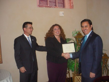 Ortiz receiving VSUW Award